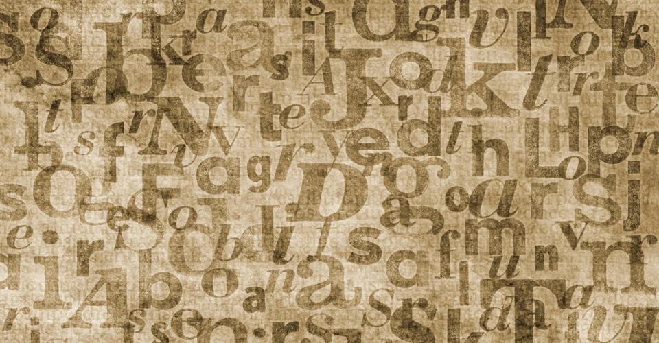 God typografi til ansøgning